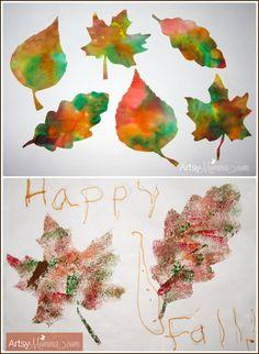 Fall Leaf Crafts for Kids