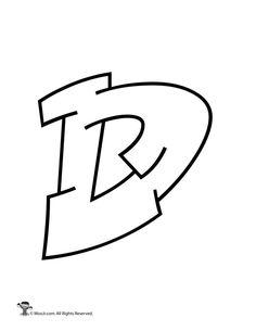 Graffiti alphabet - Graffiti Capital Letter D – Graffiti alphabet Graffiti Letter D, Graffiti Alphabet Styles, Graffiti Lettering Alphabet, Graffiti Writing, Tattoo Lettering Fonts, Graffiti Font, Doodle Lettering, Bubble Letter D, Bubble Letters Alphabet