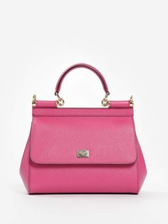 6cb2e634c9e9 Dolce   Gabbana Top Handle Bags - DOLCE   GABBANA WOMEN S PINK DAUPHINE LEATHER  SICILY HANDBAG