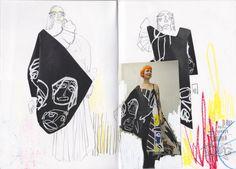 fashion sketchbook New ideas for fashion design sketches illustrations central saint martins Mode Portfolio Layout, Fashion Portfolio Layout, Fashion Design Sketchbook, Fashion Design Portfolio, Portfolio Ideas, Sketchbook Layout, Textiles Sketchbook, Sketchbook Inspiration, Sketchbook Ideas