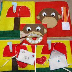 10 Page No-Sew, Machine Sew or Hand Sew Toddler Felt Busy Book Pattern Diy Quiet Books, Felt Quiet Books, Kids Crafts, Felt Crafts, Quiet Time Activities, Quiet Book Patterns, Felt Sheets, Busy Book, Hand Sewing