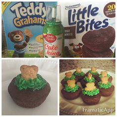 Groundhogs Day Treat: Brownie bites, Teddy Graham's, and green cake icing. Cooking In The Classroom, Preschool Cooking, Preschool Snacks, Classroom Fun, Preschool Winter, Preschool Groundhog, Groundhog Day Activities, Holiday Activities, Holiday Treats