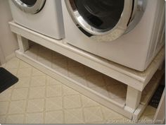 DIY Washer Dryer Stand