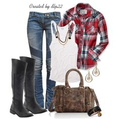 """Plaid"" by dlp22 on Polyvore"