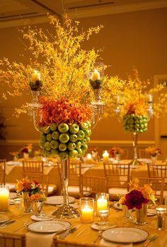 11 Gorgeous Centerpieces With Fruit | Photo by: Jennifer Lindberg Weddings | TheKnot.com