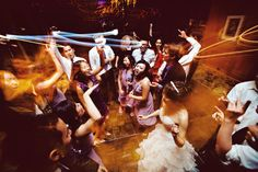 DANCE!  Light painting fun at a wedding reception in California.  Image by Atelier Pictures.