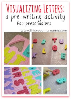 Visualizing Letters: A Pre-Writing Activity and Game for Preschoolers | This Reading Mama
