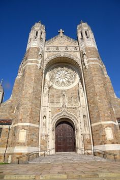 Rosary Cathedral Toledo OH Carrie Humble Holy Rosary Cathedral, Toledo Cathedral, Cathedral Church, Barcelona Cathedral, Sacred Architecture, Architecture Board, School Architecture, Ohio Usa, Architectural Section
