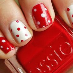 love this reverse polka dot manicure!
