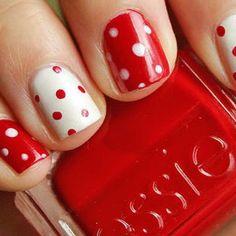 love this reverse polka dot manicure! #nailart #polkadots