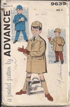 Child's Coat Pattern Vintage 50s Sewing Pattern by HoneymoonBus, $7.99