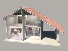 Modelling and rendering a set-up for Watts in-house heating system Home Heating Systems, Mechanical Design, Apartment Design, Home Renovation, Plumbing, Flooring, Interior, Model, House