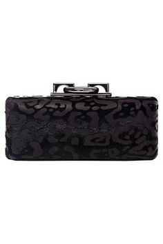 Black panther velvet hardshell clutch ~ Diane von Furstenberg - Bags - 2014 Fall-Winter