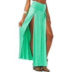 Zeagoo Women's Trends High Waisted Double Slits Maxi Skirt (Green) Zeagoo http://www.amazon.com/dp/B00L8W1652/ref=cm_sw_r_pi_dp_M9Z9tb1H56YT0