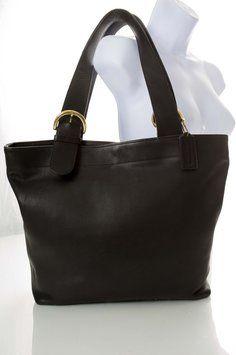 Coach Vintage Leather Large Black Tote Bag