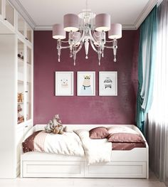 Ideas For Wall Decals Living Beds Daybed Room, Wall Collage Decor, Purple Bedrooms, Kitchen Wall Stickers, Home Office Space, Decorating Small Spaces, Room Lights, Small Rooms, Kids Rooms