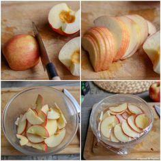 On coupe et on cuit légèrement Deserts, Peach, Fruit, Vegetables, Food, Kitchens, Cutaway, Recipes, Peaches