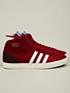 Adidas Originals Men's Basket Profi OG Sneaker in red at oki-ni