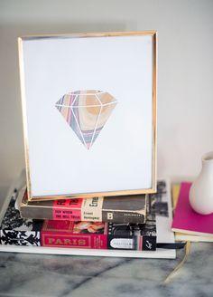 DIY marble gemstone art piece paper crapft craft paint matble cutout card interior decor gift painting decor design