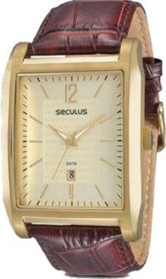 46a98f33b2e 23440GPSVDA2 Relógio Masculino Pulseira de Couro Seculus Classic Unissex