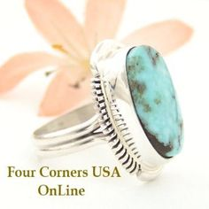 Four Corners USA Online - Size 6 1/2 Dry Creek Turquoise Ring Thomas Francisco American Indian Silver Jewelry NAR-1445, $144.00 (http://stores.fourcornersusaonline.com/size-6-1-2-dry-creek-turquoise-ring-thomas-francisco-american-indian-silver-jewelry-nar-1445/)