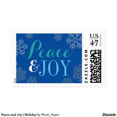 Peace and Joy | Holiday Postage