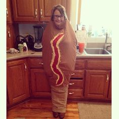 Pin for Later: 20 Food Costumes to DIY on the Cheap Corn Dog Wrap a brown sheet around your body. Have a friend staple it together. Paint on the ketchup and mustard.