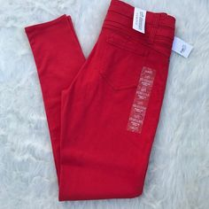 I just added this to my closet on Poshmark: Rue 21 Red Soft JeansNWT.  Size: 9J