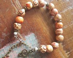 """Bracelet, Perle en bois """"Notys"""" Collection  LaPieM, Bijoux Look Hippie chic, bohème, ethnique, Boho"""