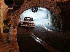 pasionslot - TRAMO RALLY DEL ANGEL - Decoración y S&B de Circuitos Race Car Track, Slot Car Racing, Slot Car Tracks, Slot Cars, Rc Cars, Go Karts, Ducati, Mopar, Train Tunnel