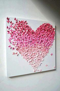 Herz aus Schmetterlingen