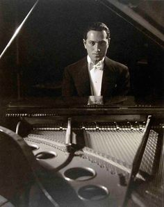 "George Gershwin, 1927.  When he died his close friend John O'Hara wrote-  ""George Gershwin died on July 11, 1937, but I don't have to believe it if I don't want to."""