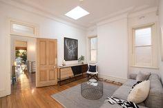 Large formal living room at entry level