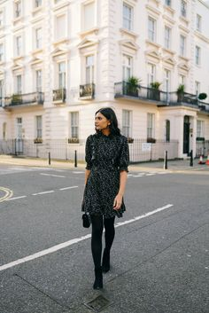 While floral prints go hand in hand with the spring and summer seasons, I believe this everlasting trend can be worn year-round. All Black Looks, Erdem, Winter Months, Little Dresses, Floral Blouse, Old Women, Frocks, Ball Gowns, Personal Style