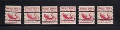 Scarce Set of early Plate Number Coil Stamps--  5.2 cent Sleigh