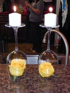 Wedding Shower Decorations DIY, do you like this idea E? only with purple roses maybe?