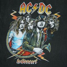 Vintage AC/DC 1979 Highway To Hell tour shirt. Very rare boot purchased outside the concert in the parking lot.