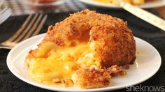 Deep-fried mac and cheese lava cake with a crispy bacon crust is a ...