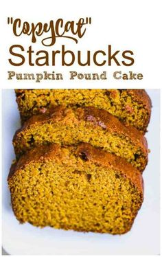 """CopyCat"" Starbucks Pumpkin Pound Cake cake baking Best Picture For pumpkin chocolate chip cookies For Starbucks Pumpkin Bread, Pumpkin Loaf, Pumpkin Dessert, Starbucks Pumpkin Pound Cake Recipe, Pumkin Bread, Pumpkin Bread Recipes, Healthy Pumpkin Bread, Pumpkin Bundt Cake, Vegan Pumpkin"