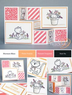 "Djudi'Scrap Stampin'Up! - Tutoriel Carte Anniversaire en Escalier ""Set Pretty…"