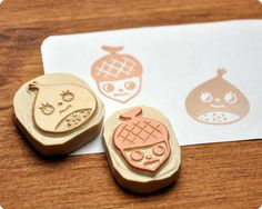 memi the rainbow: le festival d'automne of hand carved rubber stamps!