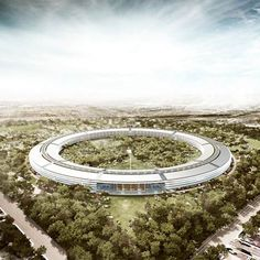 Late last year Apple purchased a campus from Hewlett Packard, in Cupertino. On Tuesday, Apple CEO Steve Jobs, explained Apple's plans to the Cupertino… Norman Foster, Steve Jobs, Sede Da Apple, Apple Campus 2, Apple Headquarters, Wallpaper S8, Apple Office, Wallpapers En Hd, Arquitetura