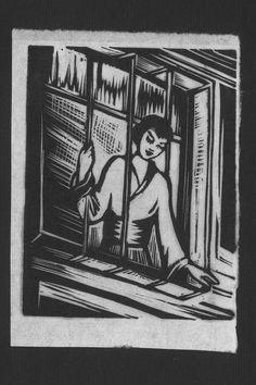 Helena Bochořáková-Dittrichová, untitled woodcut from Malířka Na Cestách (The Artist on her Journey), n.d., 4.25 x 3.125 in., National Muse...