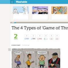 http://mashable.com/2013/06/05/game-of-thrones-comic-2/ The 4 Types of Game of Thrones Fans | #Indiegogo #fundraising http://igg.me/at/tn5/