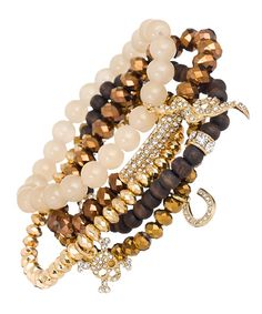 Blu Bijoux Gold Stretch Bracelets