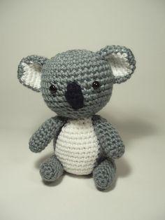 Crocheted Koala Bear Stuffed Animal Toy