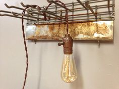 Hanging Pendant Light Edison Bulb Industrial by ToolShedOriginals