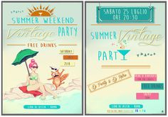 << Flyer on commission >> Wacom Tablet & Illustrator cs6  #flyer #vintage #party #wacom #tablet #illustration #graphic