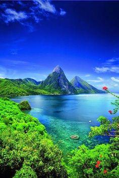Saint Lucia, Caribbean landscape.