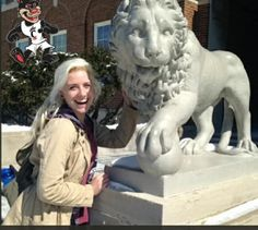 Trudging through slushy sidewalks to hunt for the best photo opportunities around the University of Cincinnati campus, Emily Cappel, a third-year biology student, showed her Bearcat pride Friday in an effort to win the Rock Your UC Colors Scavenger Hunt.